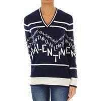Valentino Sweater for Women Jumper, navy, Virgin wool, 2019, 10 12