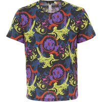 Versace T-Shirt for Men On Sale in Outlet, Black, Cotton, 2019, L M