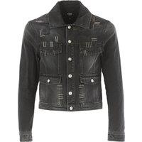 Versace Jacket for Men On Sale, Denim Black, Cotton, 2017, L S
