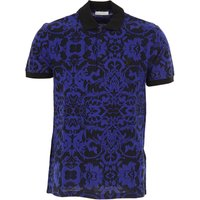 Versace Polo Shirt for Men, Versace Collection, Navy Blue, Cotton, 2017, L M S XL