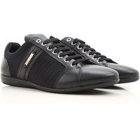 Versace Sneakers for Men, Black, Leather, 2017, 9 9.5