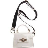 Versace Baby Girls Handbag, Patent White, Calf Leather, 2019