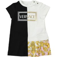 Versace Baby Dress for Girls On Sale, Black, Cotton, 2019, 18M 9M