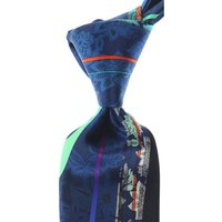 Pancaldi Ties On Sale, Midnight Blue, Silk, 2021
