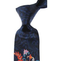 Pancaldi Ties On Sale, Midnight Blue, Silk, 2019