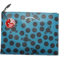 Vivienne Westwood Women's Pouch, Anglomania, Blue-marine, Leather, 2019