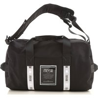 Versace Jeans Couture Weekender Duffel Bag for Men On Sale, Black, polyester, 2019