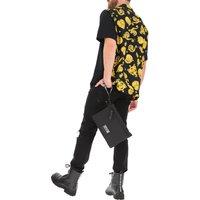 Versace Jeans Couture Shirt for Men, Black, viscosa, 2019, S * IT 46 L * IT 50