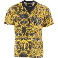 Versace Jeans Couture T-Shirt for Men On Sale, Black, Cotton, 2019, L M S XL