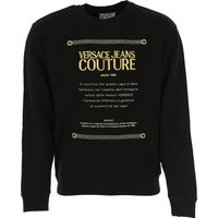 Versace Jeans Couture Sudadera de Hombre Baratos en Rebajas, Negro, Algodon, 2019, S XL