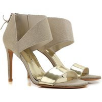 Stuart Weitzman Sandals for Women On Sale, Gold, Leather, 2017, 3.5 4.5 7.5