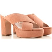 Stuart Weitzman Sandals for Women On Sale in Outlet, Old Rose, Suede leather, 2021, US 6 (EU 36.5) U