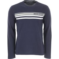 Woolrich Sweater for Men Jumper On Sale, Blue, Cotton, 2019, L S