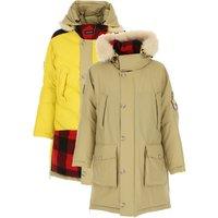 Woolrich Down Jacket for Men, Puffer Ski Jacket On Sale, Camel, Cotton, 2019, M S