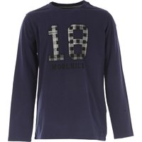 Woolrich Kids T-Shirt for Boys On Sale in Outlet, Blue Navy, Cotton, 2017, 10Y 14Y