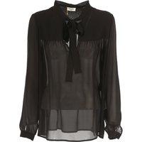 Yves Saint Laurent Shirt for Women On Sale in Outlet, Black, Silk, 2019, 10 12