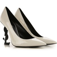 Yves Saint Laurent Pumps & High Heels for Women On Sale in Outlet, Dirty White, Patent, 2019, 2.5 7