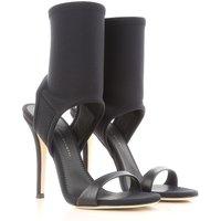 Giuseppe Zanotti Design Sandals for Women On Sale in Outlet, Black, Nylon, 2019, 4 4.5 6.5