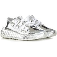 Giuseppe Zanotti Design Sneakers for Women, Silver Mirror, Metallic Leather, 2021, 3.5 4.5 5.5