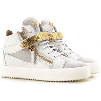 Giuseppe Zanotti Design Sneakers for Women On Sale in Outlet, White, Leather, 2019, 2.5 3.5 4.5 6.5