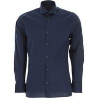 Ermenegildo Zegna Shirt for Men On Sale, Blue, Cotton, 2019, 16 16.5