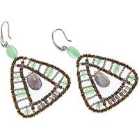 Ziio Jewellery Earrings for Women, Transparent Light Green, Chrysophrase Hydro, 2019