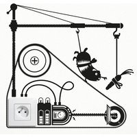 Hamster Treadmill Outlet Wall Sticker - Umbra Gifts