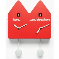 Double Q Cuckoo Clock - Red - Umbra Gifts