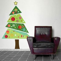 Christmas Tree Repositionable Wall Sticker - Christmas Gifts