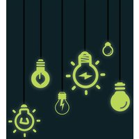Glow in the Dark Light Bulb Wall Stickers - Umbra Gifts