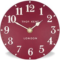 Thomas Kent Arabic Red Mantel Clock - 6 Inch - Mirror Gifts