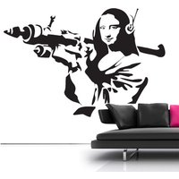 Banksy Mona Lisa Wall Sticker - Chelsea Gifts