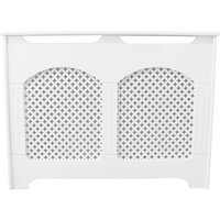 Small Radiator Cover - White