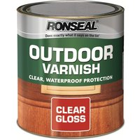 Ronseal Outdoor Varnish - Clear Gloss, 750ml