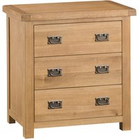 Graceford Ready Assembled 3-Drawer Oak Chest of Drawers