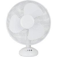 Status 12 Inch Oscillating Desk Fan - White