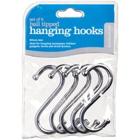 """KitchenCraft Chrome Plated Hanging """"S"""" Hooks 80mm - Pack of 5"""