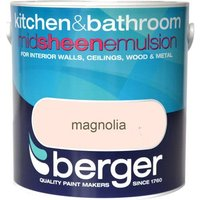 Berger Kitchen & Bathroom Emulsion - Magnolia, 2.5L