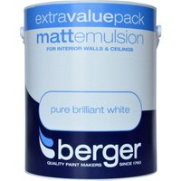 Berger Matt Emulsion - Brilliant White, 3L