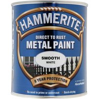 Hammerite Direct to Rust Metal Paint Smooth White 750ml