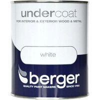Berger Wood & Metal Undercoat - White, 750ml