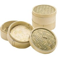 KitchenCraft 2-Tier Bamboo Steamer with Lid