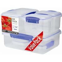 Sistema Klip It 6 Pack Food Storage Boxes Value Pack