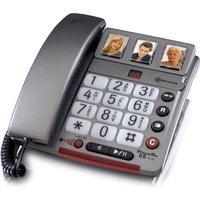 Amplicomms Powertel 68 Plus Corded Telephone with Photo Memory Buttons and Answering Machine