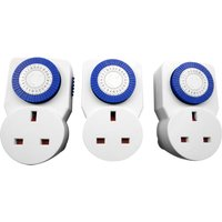 Connect-It Connect It 24-Hour Mechanical Timers - Pack of 3