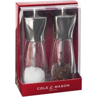 Cole & Mason Rye Stainless Steel Top Salt & Pepper Mills