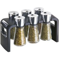 Cole & Mason 6-Jar Filled Spice Rack