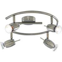 Litecraft 4 Way Adjustable Spiral Spotlight - Antique Brass