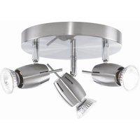 Litecraft 4 Way Adjustable Spiral Spotlight - Satin Nickel