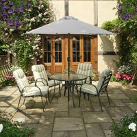 Provence 4-Seater Dining Set with 2.5m Parasol